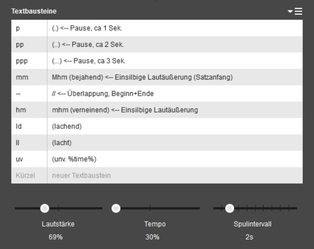 f4transkript stellt den automatischen Sprecherwechsel in unterschiedlichen Farben dar.